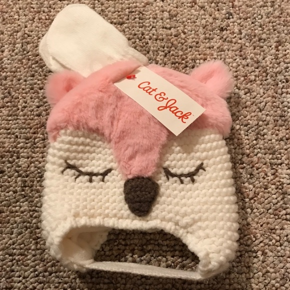 5711d2c809 Cat & Jack Accessories | Cat Jack Infant Hat With Gloves | Poshmark